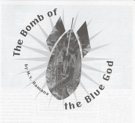 MV Ramana Article Cover - Bomb of the Blue God
